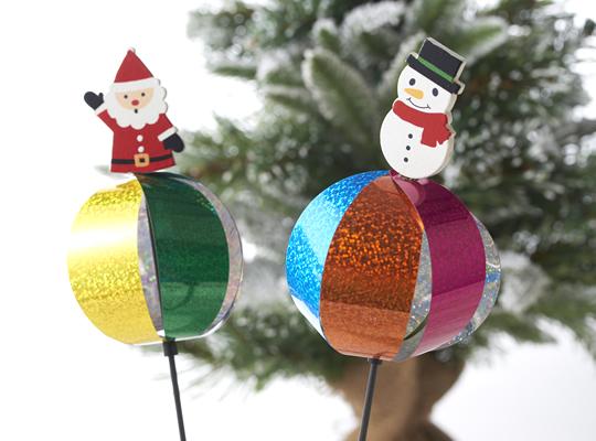 キラキラクリスマスバブルボール風車